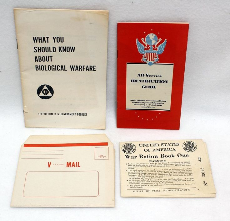 WWII World War Two V Mail Ration Stamp Book All Service Guide Biological Booklet