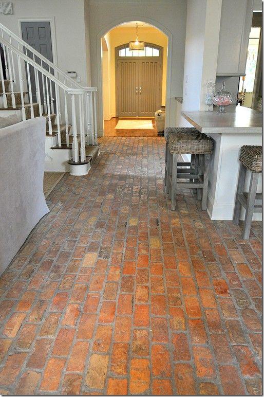 brick floor entry hall- Google Search