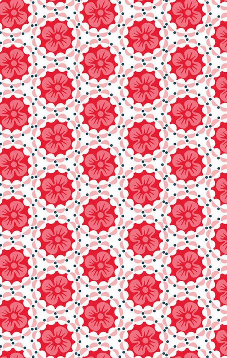 ☯☮ॐ American Hippie Psychedelic Art Pattern Design Wallpaper ~ red flowers