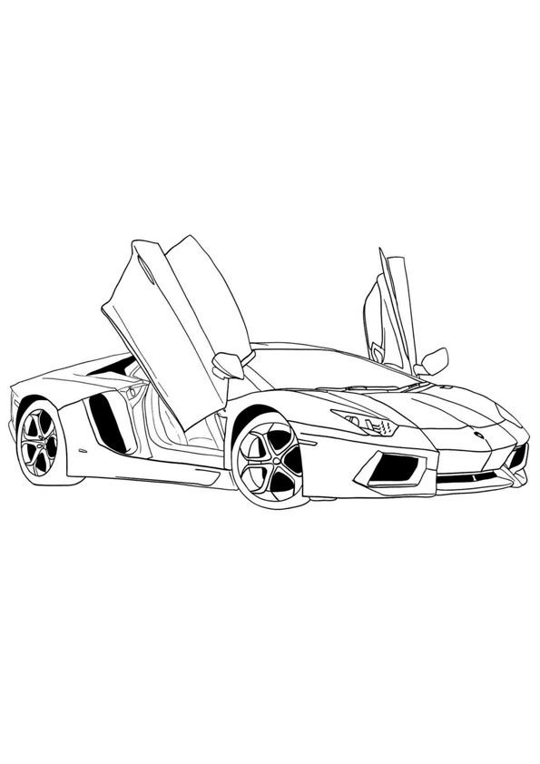 Ferrari Coloring Page In 2020 Cars Coloring Pages Super Cars Coloring Pages