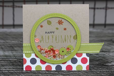 Happy Autumn Card by Heather Nichols for Papertrey Ink (September 2014)