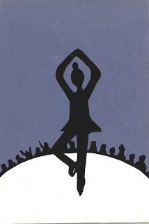 Olympische Winterspelen - Silhouet maken van een foto uit de krant