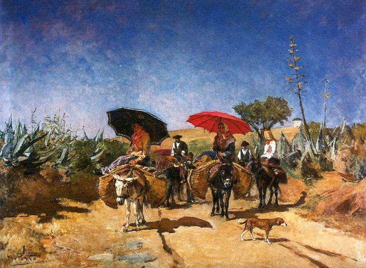 Volta do mercado, Silva Porto (1886)