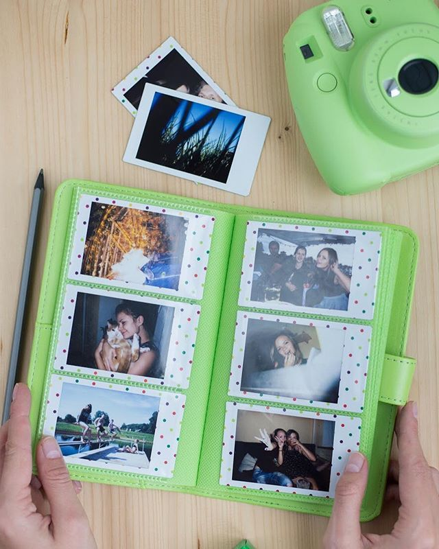 Great news for all the Instax Mini 9 owners! New photo albums are available in every Instax Mini 9 colour - Lime gree / Cobalt Blue /  Flamingo pink/ Smokey white/ Ice blue. Each album holds 108 Instax Photos. #Instax #Polaroid #PhotoAlbum