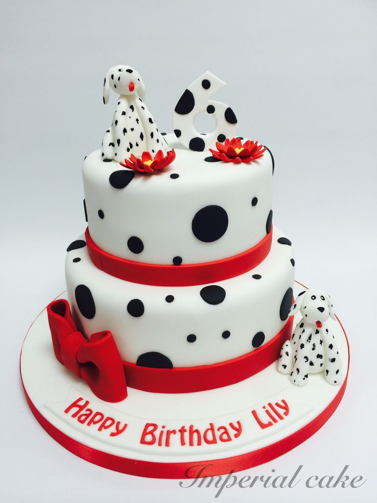 Cake On The Piano Dalmatian