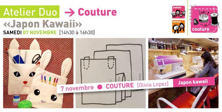 Rrose selavy » Atelier DUO [parent+enfant] Couture «Japon Kawaii» | samedi 7 novembre