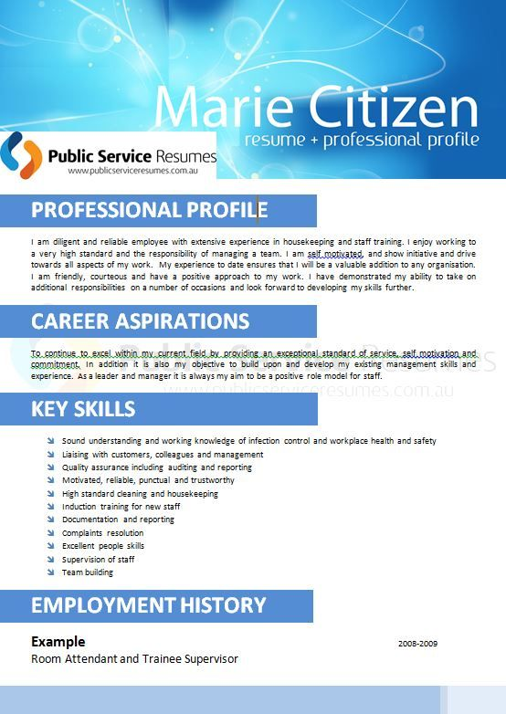 An important aspect of a resume is that it be tailored to the role or field you are applying for. If it is not customised, then your relevant or transferrable skills may not stand out to your future employee. Your true value and expertise could be lost amongst unrelated information, so you get no further. Your future is not worth risking; call or email Public Service Resumes immediately.