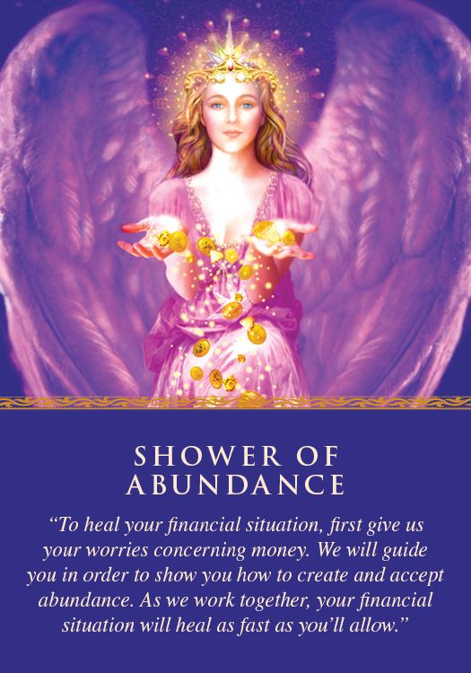 Oracle Card Shower of Abundance | Doreen Virtue | official Angel Therapy Web site
