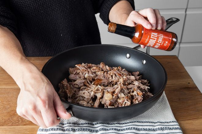 Making pulled pork doesn't have to be an all day endeavour. With a pressure cooker you can have succulent meat in under an hour. Pulled pork sliders anyone?