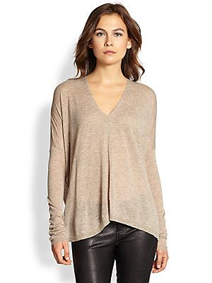 Vince Draped+Wool+&+Cashmere-Blend+Sweater