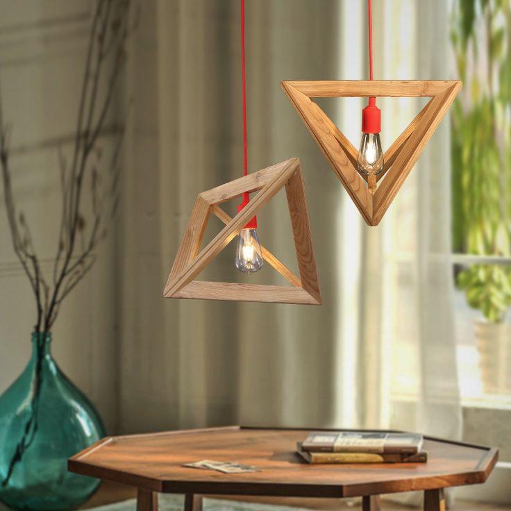 Искусство лампа люстра бар космос северных стран IKEA деревянный спальня гостиная кафе треугольная деревянный ящик люстракупить в магазине fang dainty furnishings shopнаAliExpress