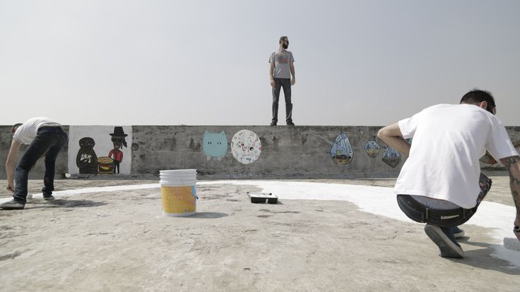 "Day4_Painting on the ""Museo Del Juguete Antiguo"" roof ! #02"