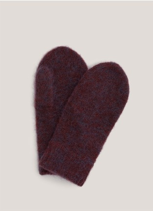 Acne - Mohair mittens // Red Short Gloves