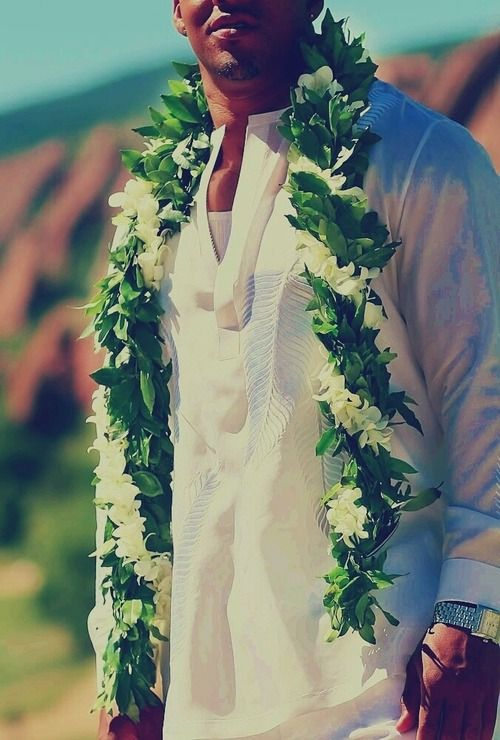 Nothing sexier than a local boy in his maile lei. Dee-lish.