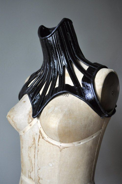 Ok.  Nowhere near practical...but in a world where I had no need for neck mobility...I'd be wearing this.  It's like if Catwoman were a queen.