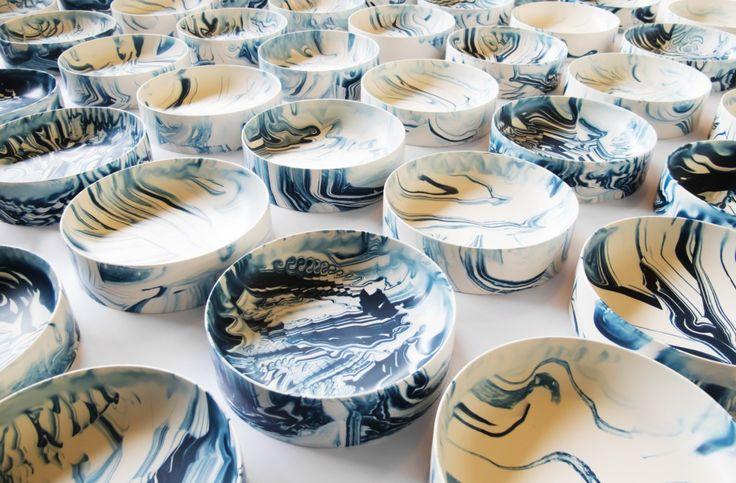 Poured Bowls_dark blue many_Troels Flensted