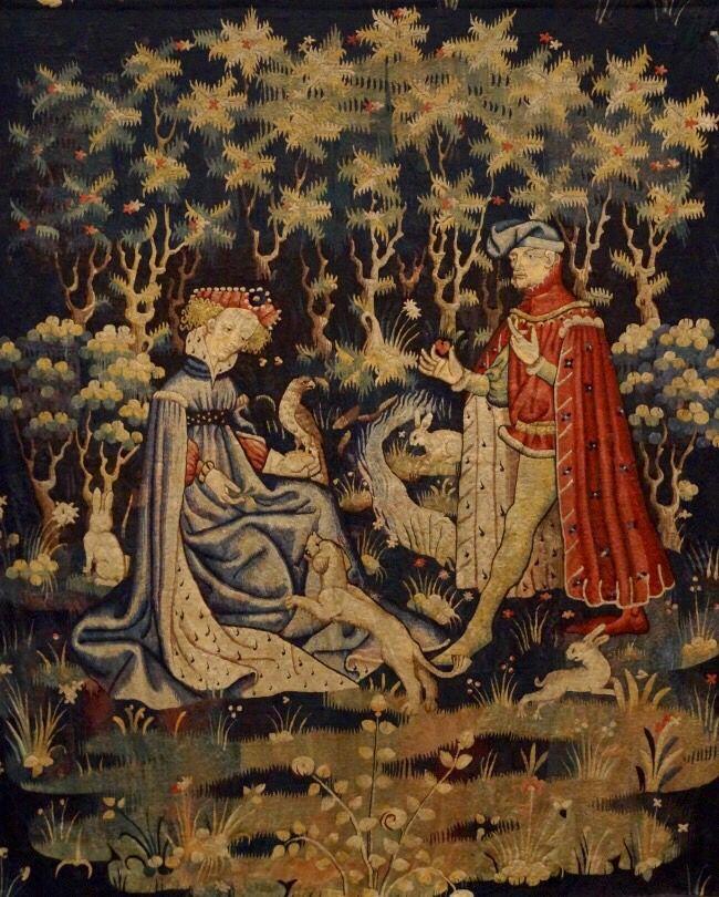 l 39 offrande du coeur tapisserie vers 1400 1410 paris mus e du louvre art artifacts art. Black Bedroom Furniture Sets. Home Design Ideas