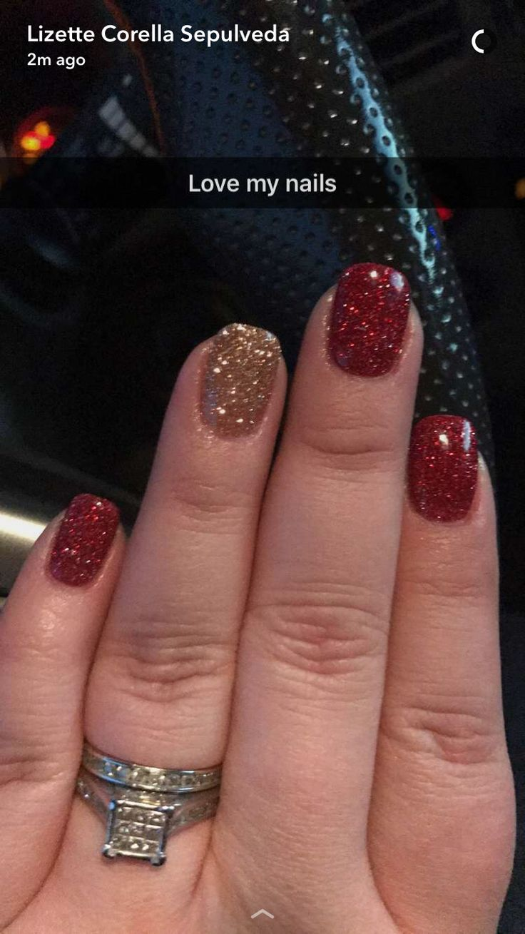 Gel Christmas Nails Which Are Amazing Gelchristmasnails In 2019 Powder Nails Dipped Nails