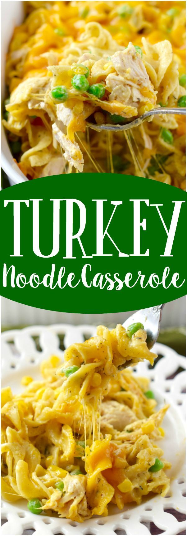 This Turkey Noodle Casserole is ready in under 30 minutes and it is packed full of flavor! The perfect weeknight meal!: