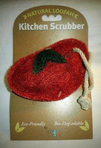 "Loofah-Art Tomato Scrubber by Loofah-Art. $1.99. Loofah-Art Tomato eco-friendly 100% biodegradable. LOOFAH-ART Kitchen Scrubbers are completely eco-friendly and 100% biodegradable fabricated from a sustainable agricultural crop. Loofah-Art products are real SCRUBBERS not ""hybrids"", which are part sponge/part scrubber."