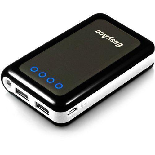 EasyAcc® 8400mAh 2 USB Ausgang Externer Akku Pack Ladegerät mit LED Taschenlampe für iPhone, Smartphones, iPod, GPS, Bluetooth Devices, Schwarz von EasyAcc, http://www.amazon.de/dp/B006FRD8QU/ref=cm_sw_r_pi_dp_-yFOsb195RSDZ