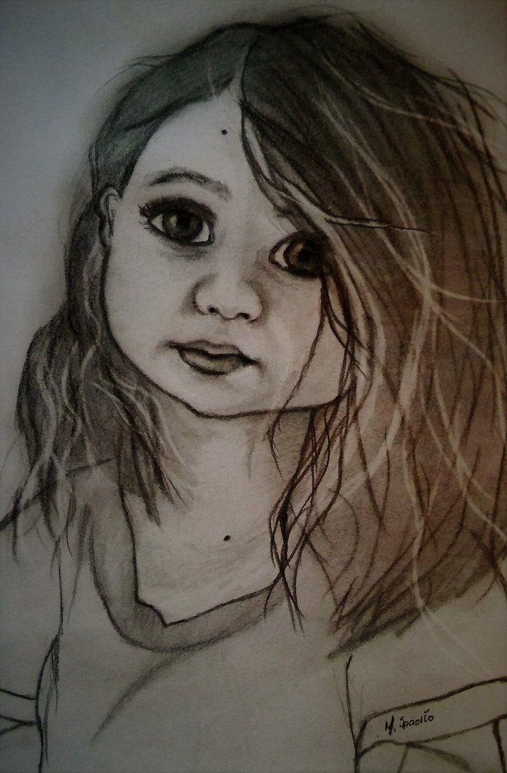 Little girl from photography. by MagdalenaaM.deviantart.com on @DeviantArt   #rysowanie #dzieci #ołowki #szkicownik #dziewczynka # drawing #sketching #cutelittlegirl