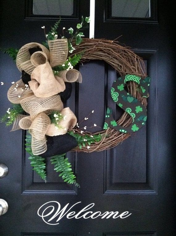 St. Patrick's Day Wreath St.Pat's wreathCladdagh by jennyCmoon, $45.00