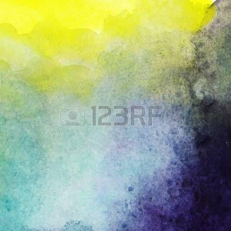 Streszczenie ręcznie rysowane tła akwarela, ilustracji wektorowych, akwarele plam kolorów mokre na mokrym papierze. Akwarela na skład elementów Pamiętnik z pustego miejsca dla wiadomości tekstowej. photo