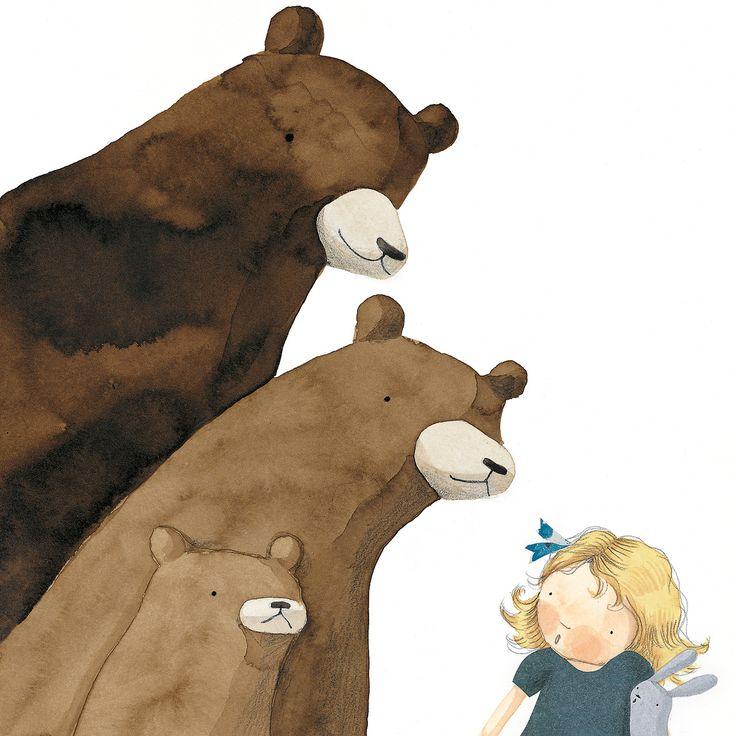 Ricitos de oro y los 3 osos. Anna Walker.