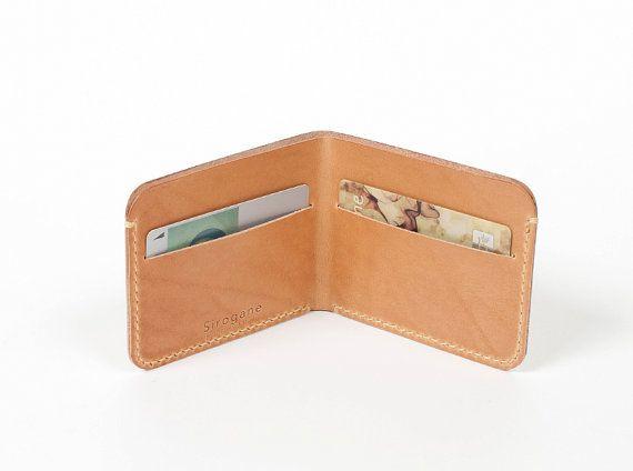 Leather Wallet minimal slim Simple wallet by SiroganeLeatherWorks, $59.00