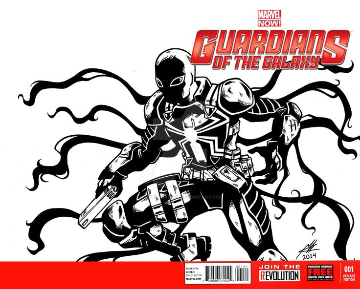 Guardians of the Galaxy Blank Cover Sketch by GumbocRafael.deviantart.com on @DeviantArt