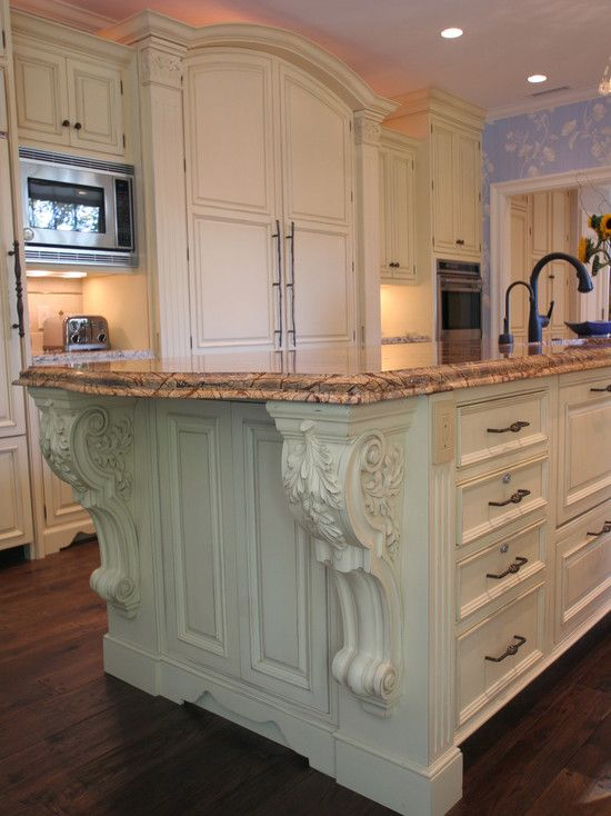 Big photo database of corbels used in interiors, kitchens, bars, and exteriors.  Fantastic!