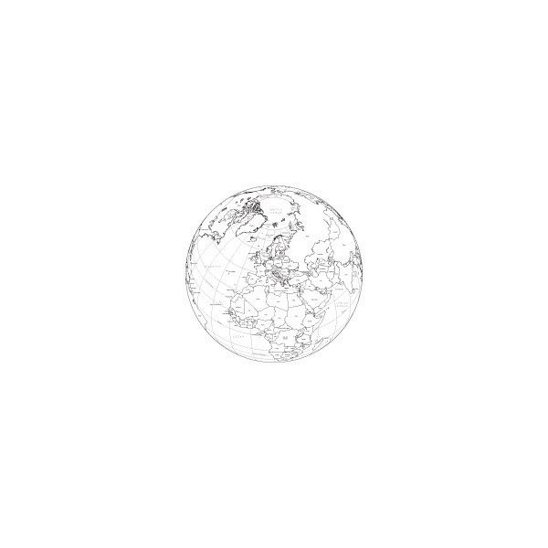 Europe Globe Digital Maps - Adobe Illustrator Maps in EPS Vector Format - Map Resources found on Polyvore featuring fillers, drawings, backgrounds, circles, doodles, text, effects, round, quotes and scribble