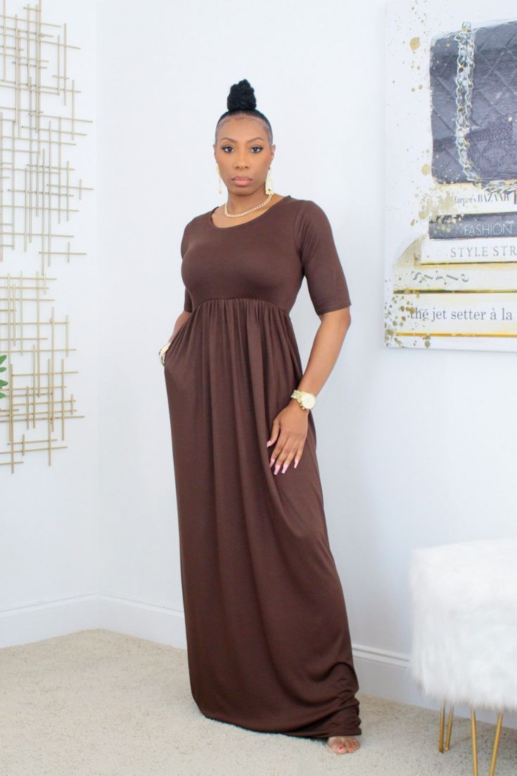 Short Sleeve Maxi Dress With Pockets Chocolate Kurated Kloset Maxi Maxi Dress Short Sleeve Maxi Dresses Maxi Dress With Sleeves [ 1102 x 735 Pixel ]