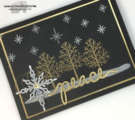 Totally Trees, Be Jolly By Golly, Starlight thinlits, Christmas Greetings thinlits | stamps-n-lingers