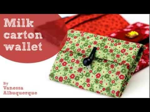 How to make a wallet from a Milk carton - DIY tutorial - Recycled, Paper & Cardboard crafts