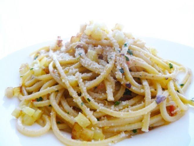 Ricetta Portata principale : Spaghetti al pesto di agrumi da Chiamig
