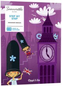 Step by step on englantia opettelevien ensimmäinen puuhakirja. Innostavien tehtävien avulla opit sanoja ja pieniä lauseita. Sanasto kertautuu ja jää mieleen monipuolisen sisällön avulla. Let's go!