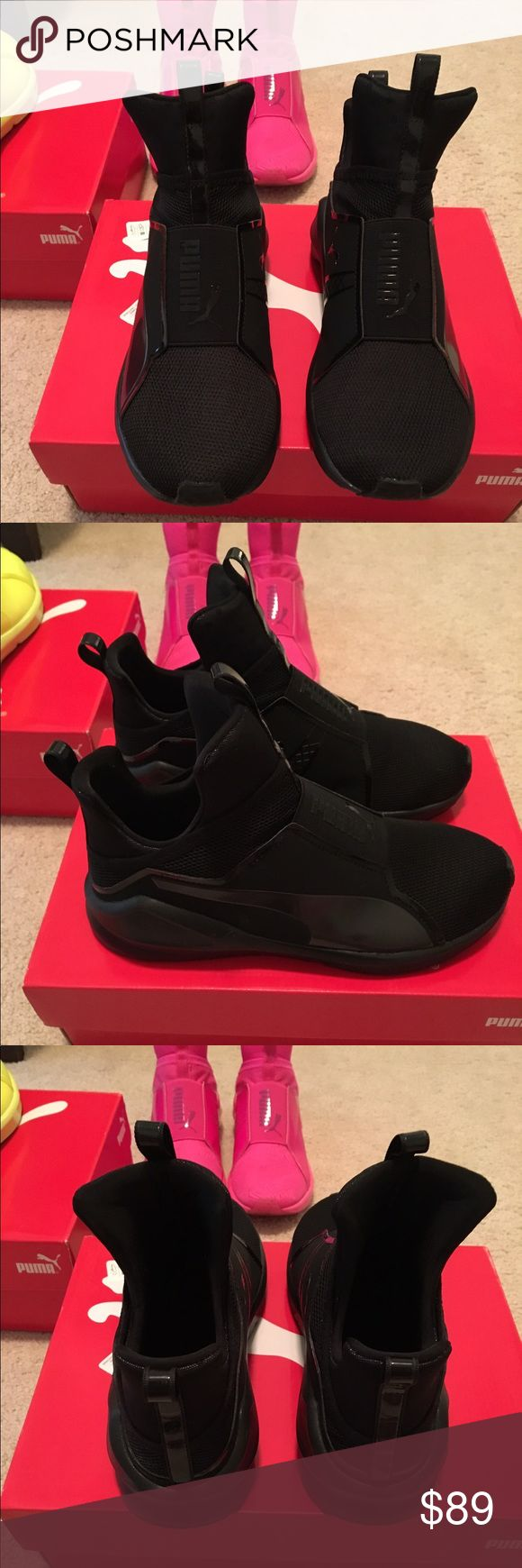 Kylie Jenner fierce black sneaker Worn few time in great condition. Fit true size with out socks. Very comfortable and light weight. Puma Shoes Sneakers