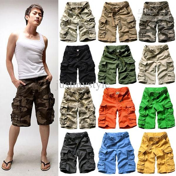 Wholesale Pants - Buy 2013 New Fashion Casual Loose Camouflage Vintage Mens Military Cargo Pants Army Shorts With Belt, $29.49 | DHgate