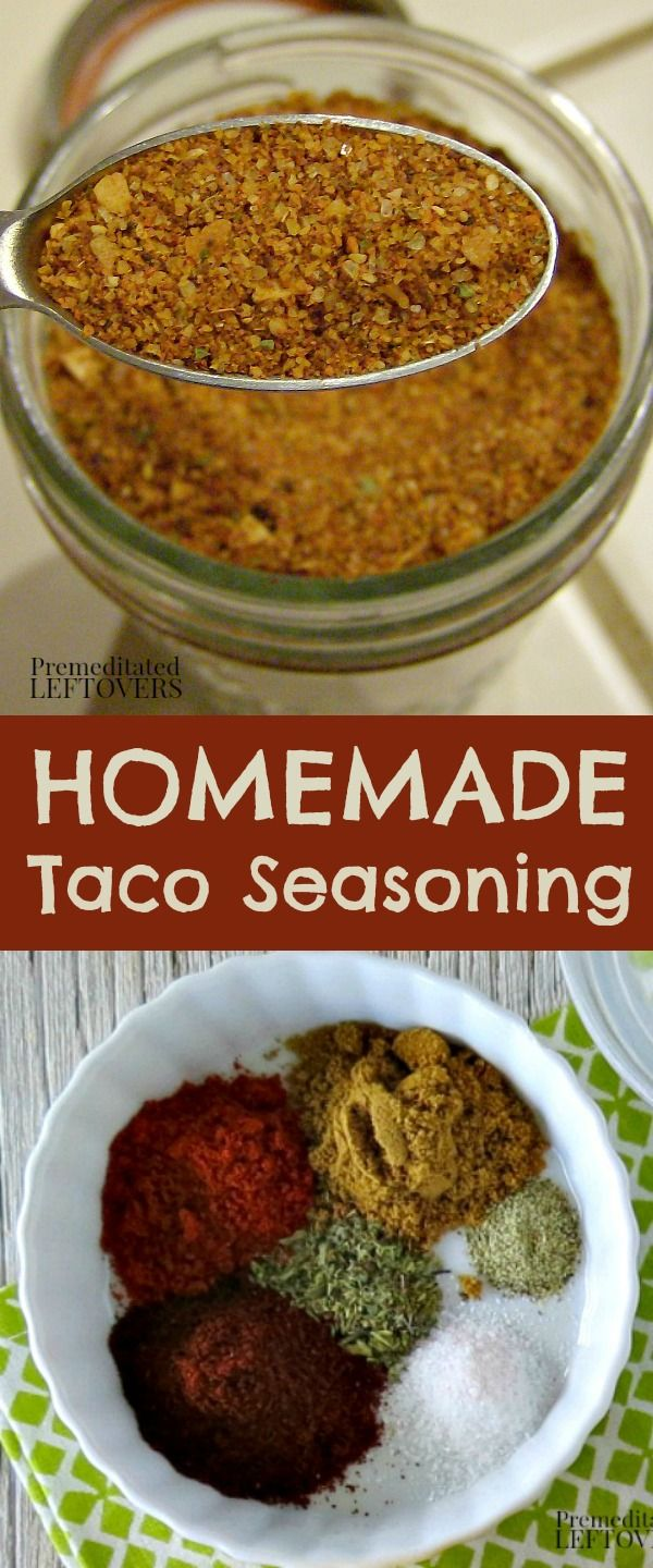 Use this Homemade Taco Seasoning Mix in your recipes. This spice mix is a quick & easy way to make taco seasoning from scratch with spices from your pantry.