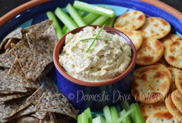 Domestic Diva: Caramelised Leek Dip. Great to add to lunch boxes with veggie sticks or crackers.