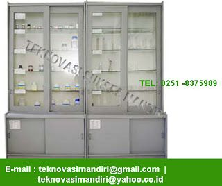 Meja Laboratorium - Furniture Laboratorium: Cabinet Glassware Storage CS-01