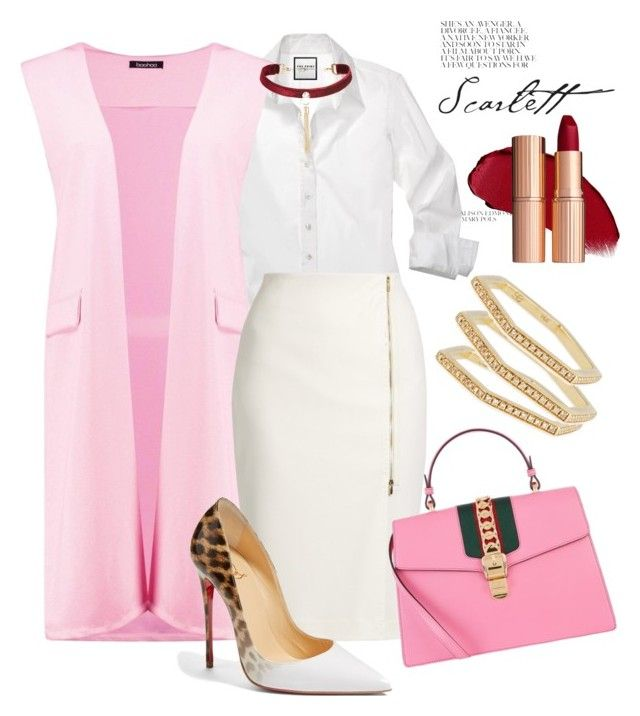 """""""Office glam"""" by tanya-dayal on Polyvore featuring Boohoo, MaxMara, Gucci, Christian Louboutin and Sydney Evan"""