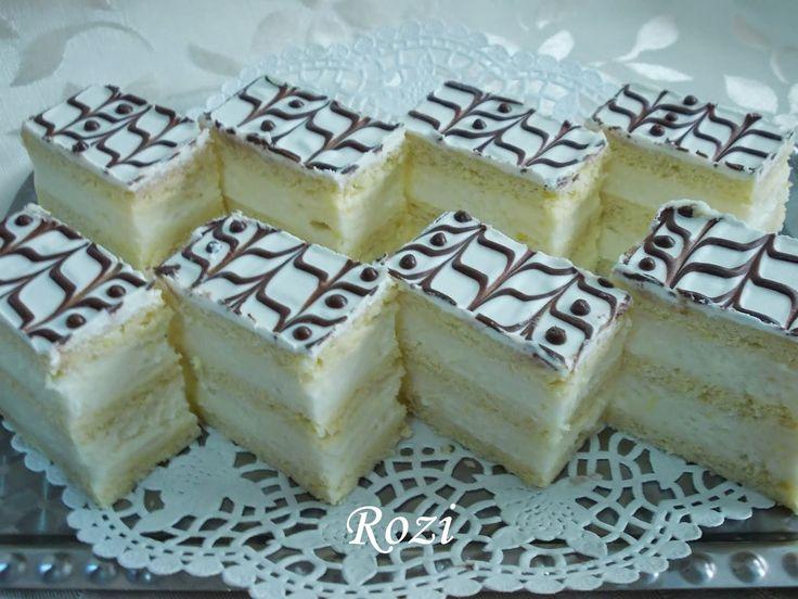 Rozi Erdélyi konyhája: Citromkrémes szelet