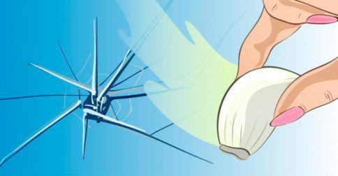 frotar un ajo con un cristal roto