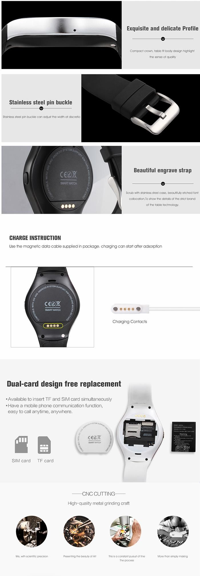 V365 Smart Watch Bluetooth Smart Watch Pedometer Fitness Tracker Mobile Watch for Android  IOS
