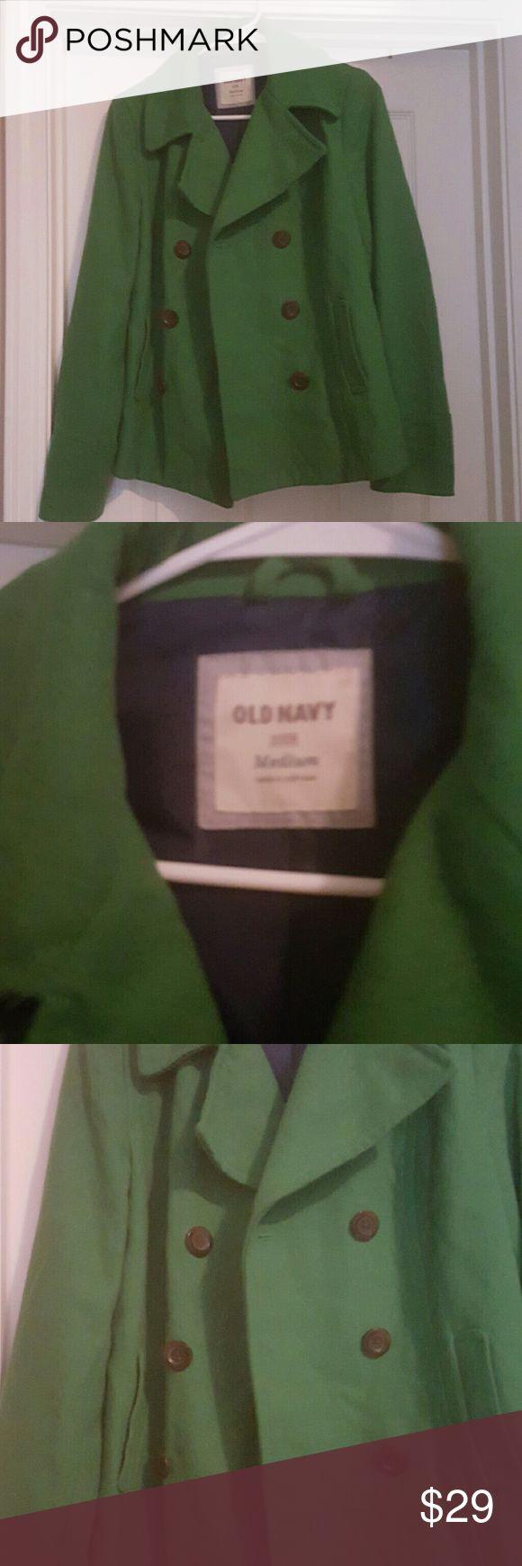 🔥Old Navy🔥 Green Old Navy Pea Coat Old Navy Jackets & Coats Pea Coats