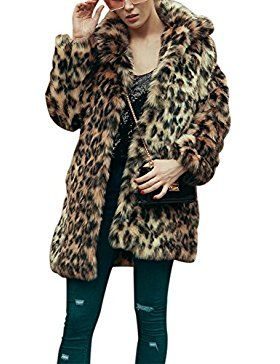 dc60430a400b iBaste Abrigo Mujer Larga Chaque   women's coat   Faux fur, Fur coat, Faux  fur jacket
