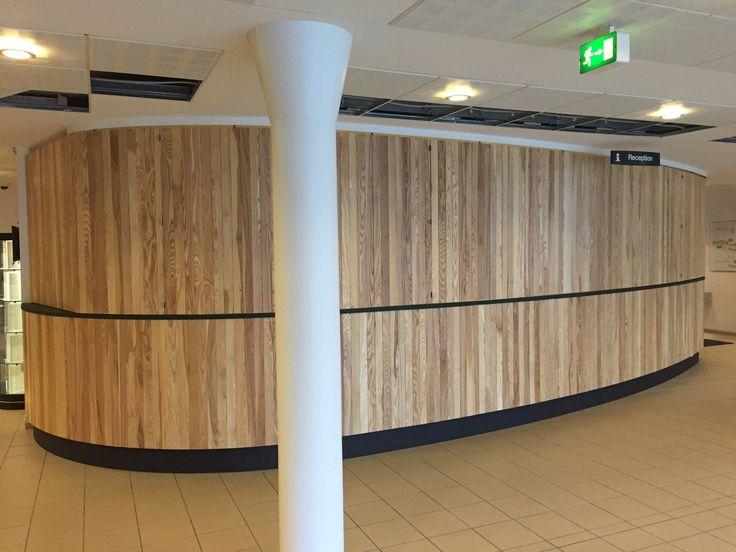 When the reception is closed. #wood #handmade #Vingstedcentret http://www.kjeldtoft.com/